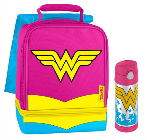 DUAL LUNCH BOX WITH FUNTAINER® BOTTLE 12OZ, WONDER WOMAN