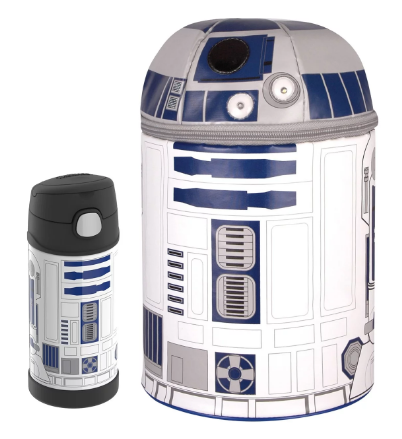 NOVELTY LUNCH BOX WITH FUNTAINER® BOTTLE 12OZ, STAR WARS R2-D2