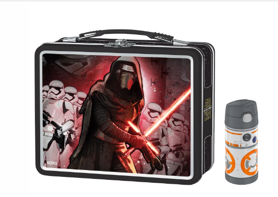 METAL LUNCH BOX WITH FUNTAINER® BOTTLE 120Z BB8, STAR WARS EPISODE VII