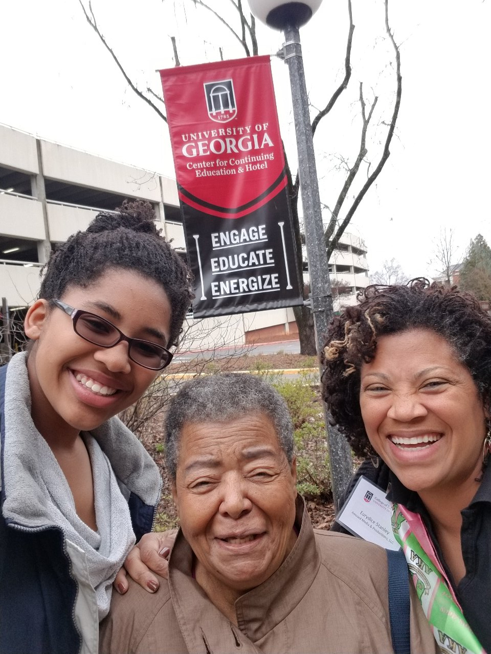 Elizabeth Eckford, Eurydice Stanley, and Grace Stanley at the University of Georgia