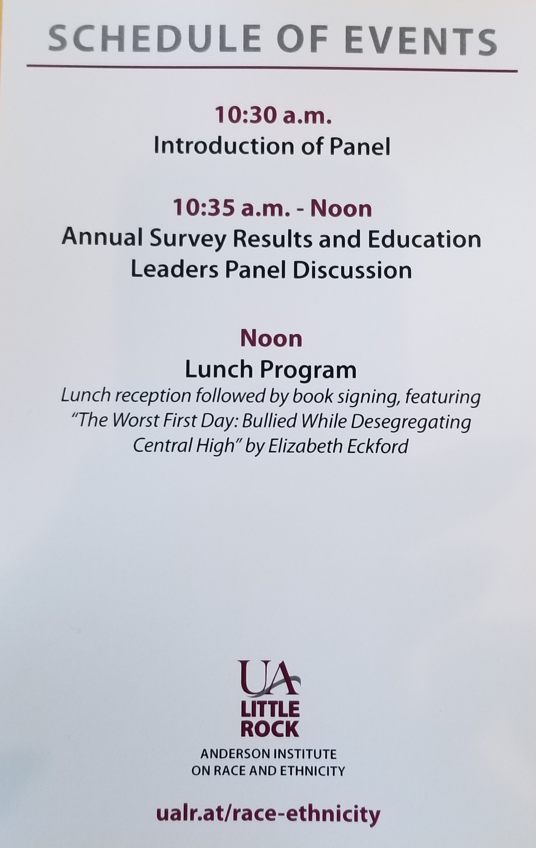UALR Race, Ethnicity and Education Conference