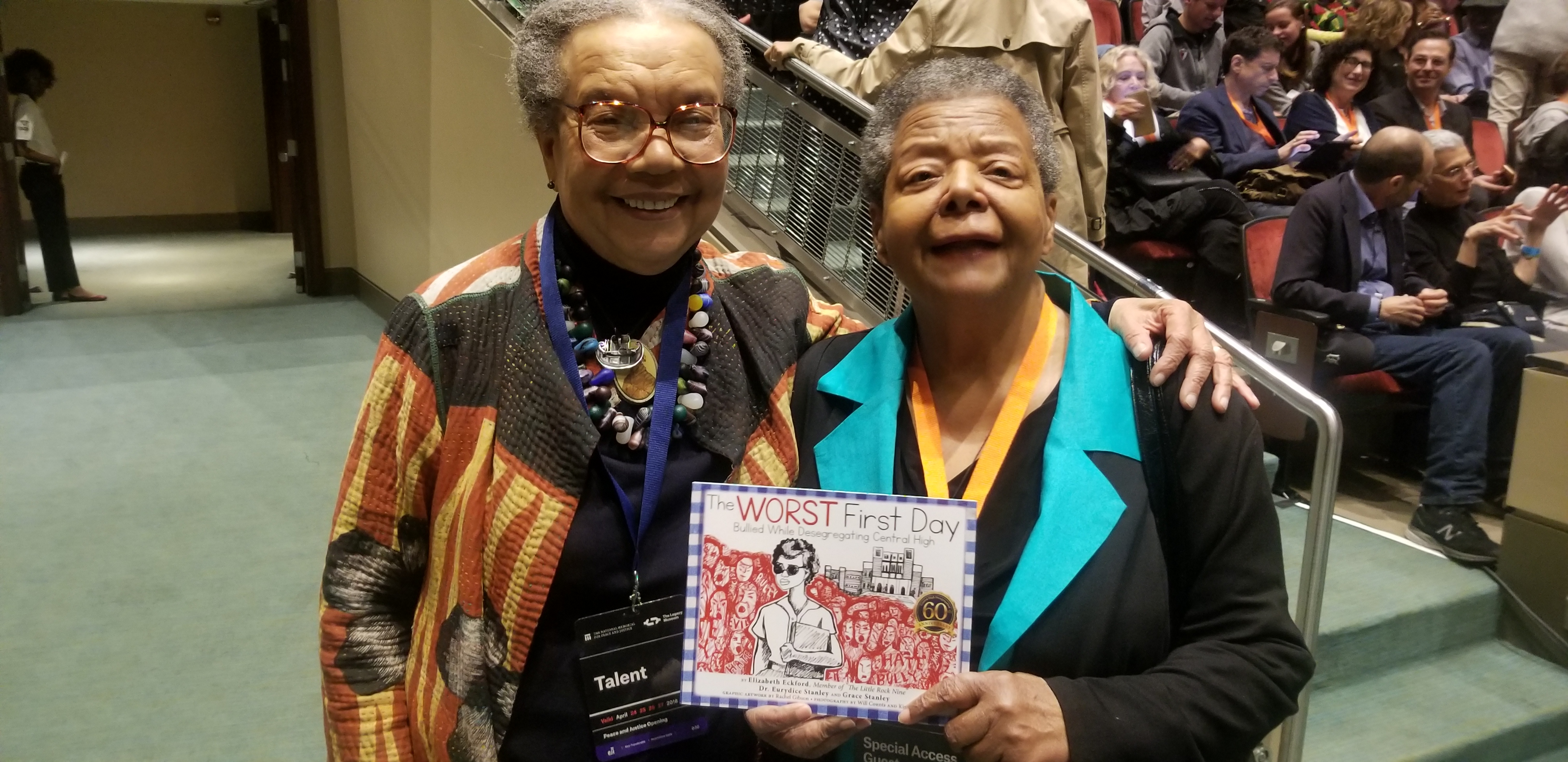 Elizabeth Eckford posing with another member of the Little Rock Nine