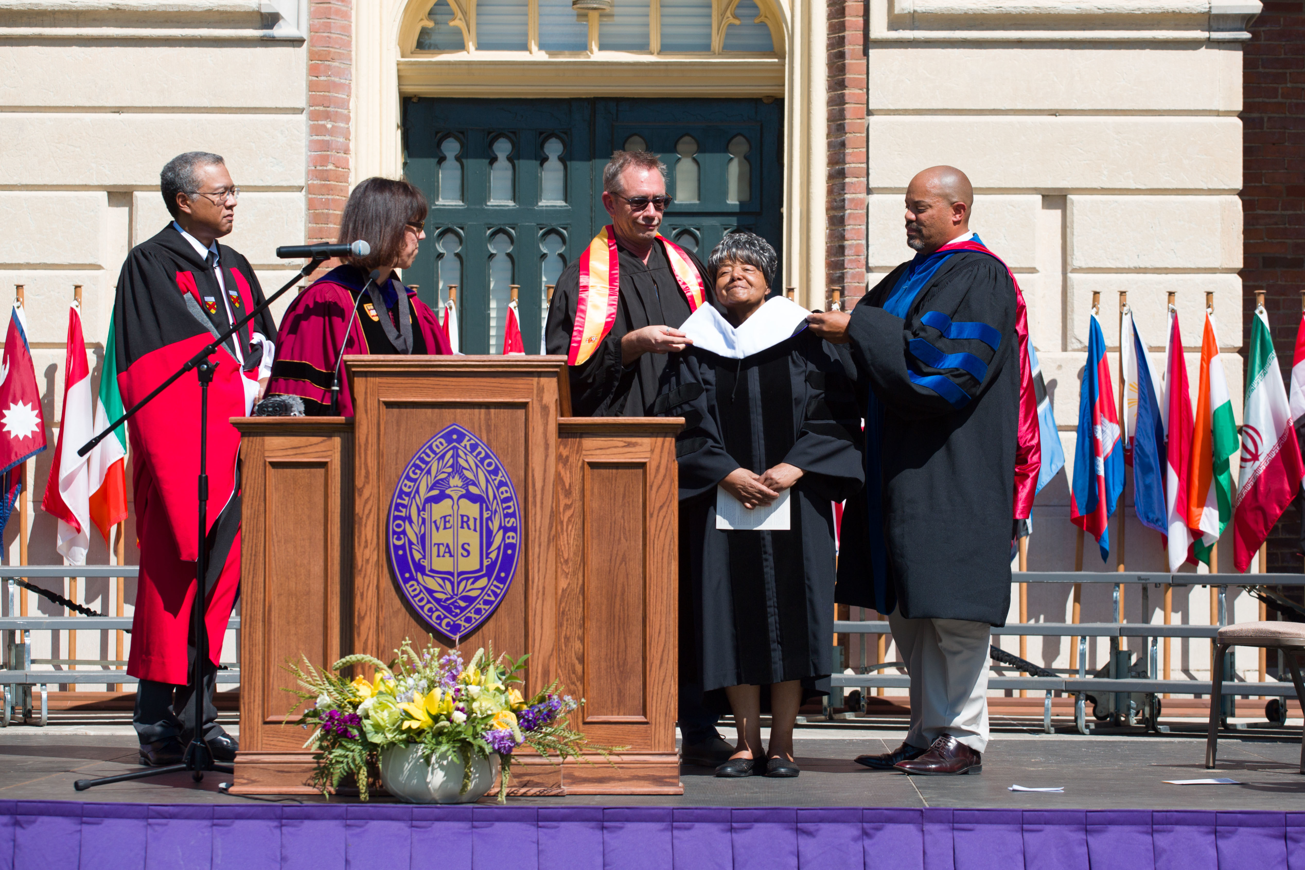 hooding of Elizabeth Eckford for honorary degree