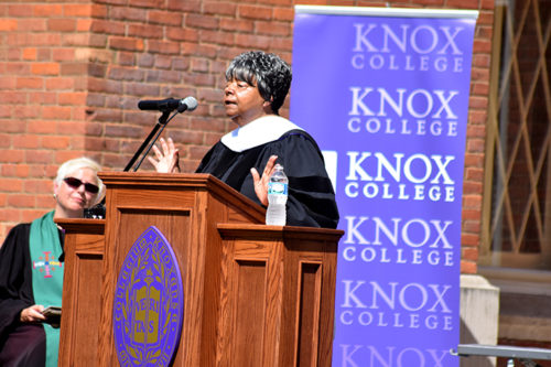 Elizabeth Eckford awarded Honorary Degree at Convocation