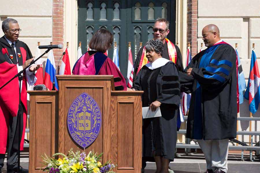 Honorary Degree Presentation to Elizabeth Eckford