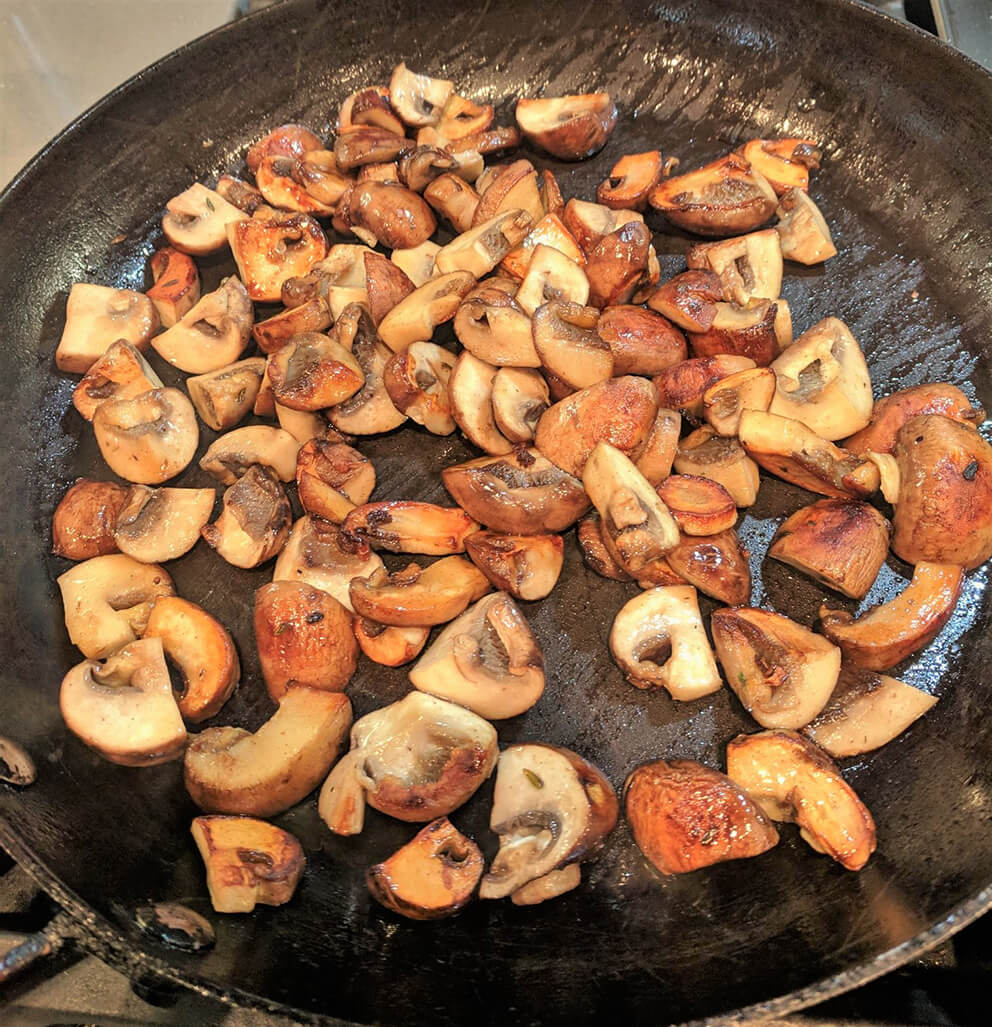 Well browned shrooms...
