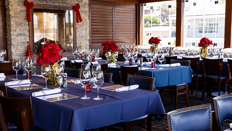 We still have openings for lunch, brunch and weekend holiday party reservations.