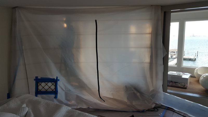 construction tarp for interior protection
