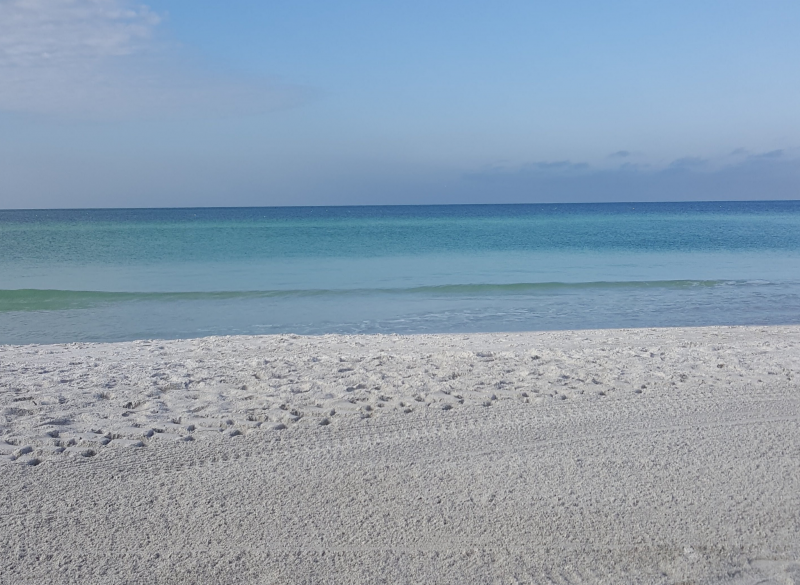 White sands on a calm beach