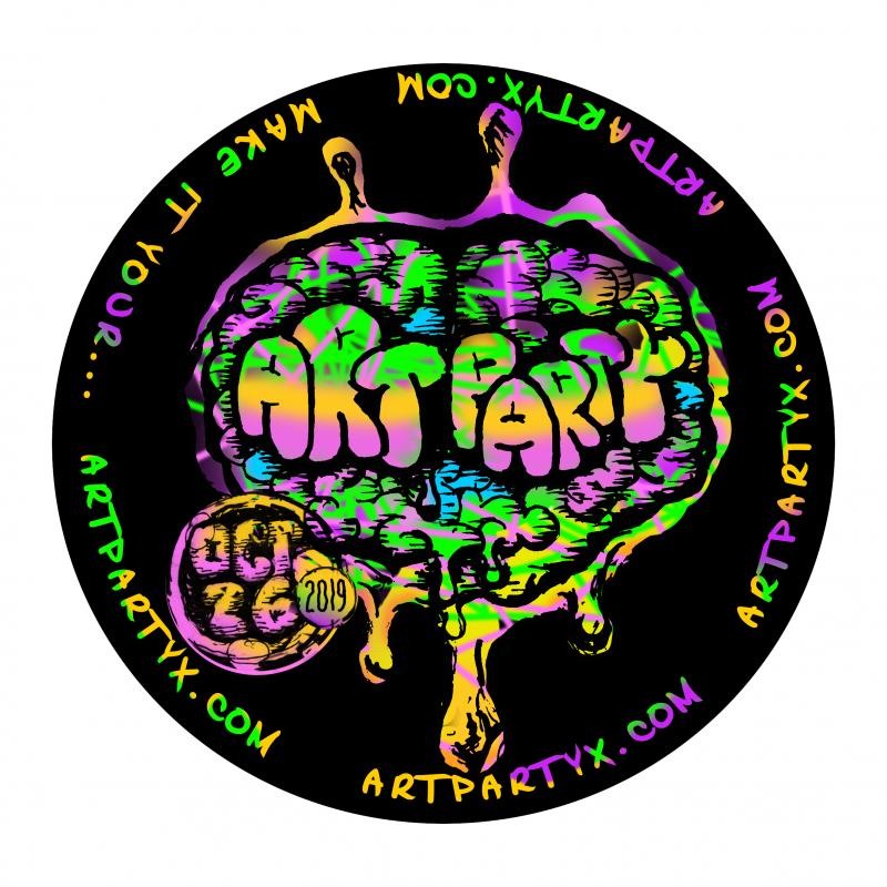 Art Party Circle Magnet