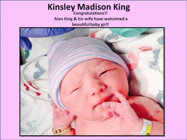 Welcome baby Kinsley!