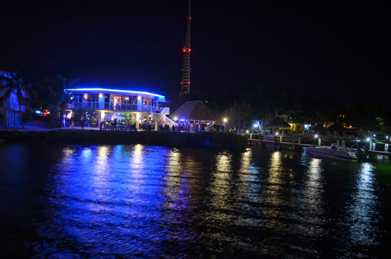 Bayside Grille – Night view from Bay