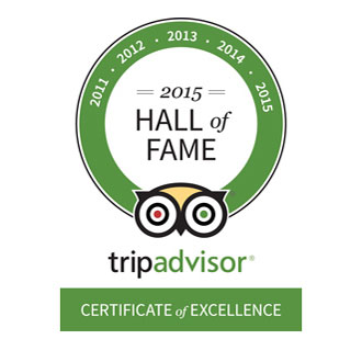 Trip Advisor Hall of Fame 2015 Award