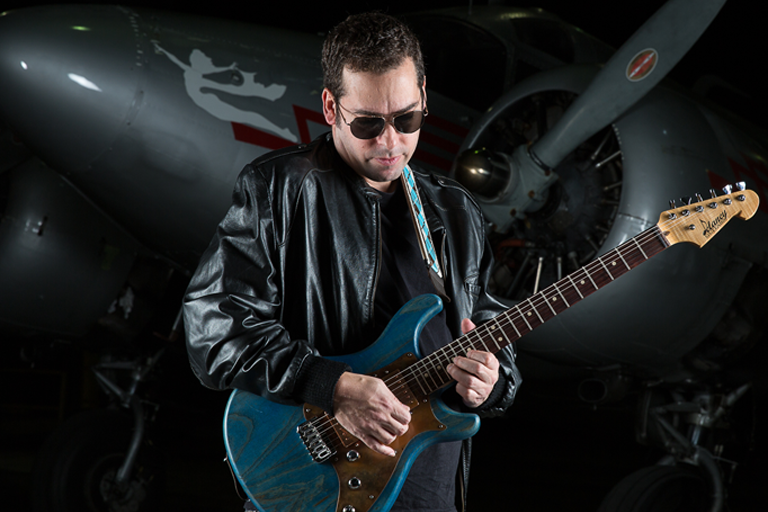 Albert Castiglia playing guitar