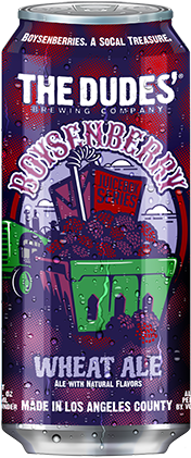 The Dudes Boysenberry Wheat Ale can