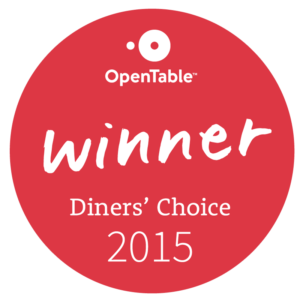 Open Table Winner Diners' Choice 2015