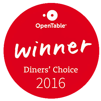 Open Table Winner Diners' Choice 2016
