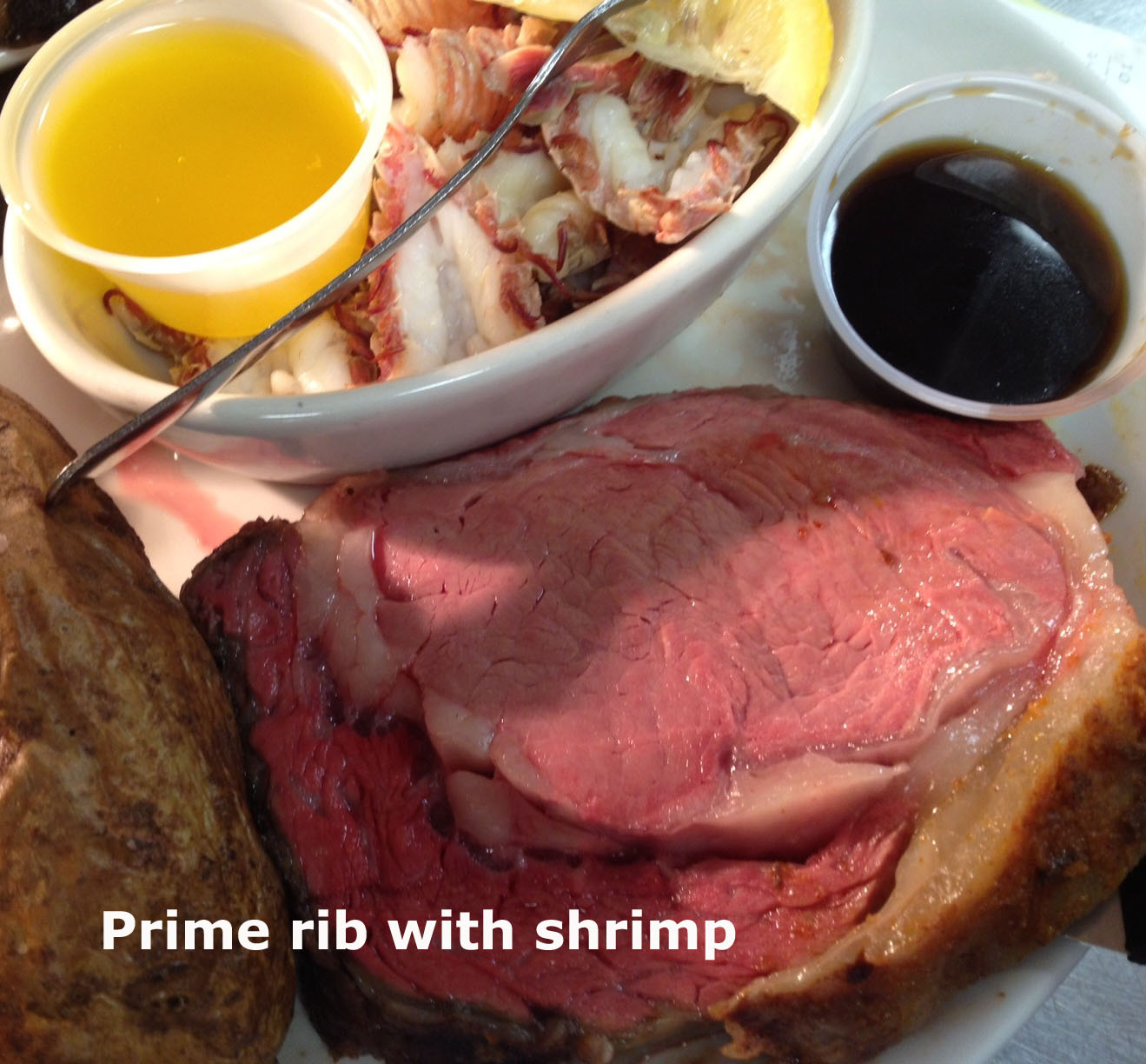 Prime Rib with Shrimp