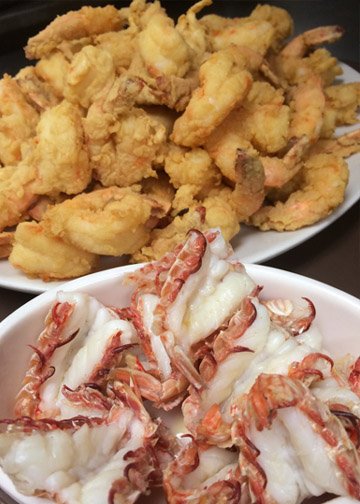 Fried Shrimp & Steamed Rock Shrimp