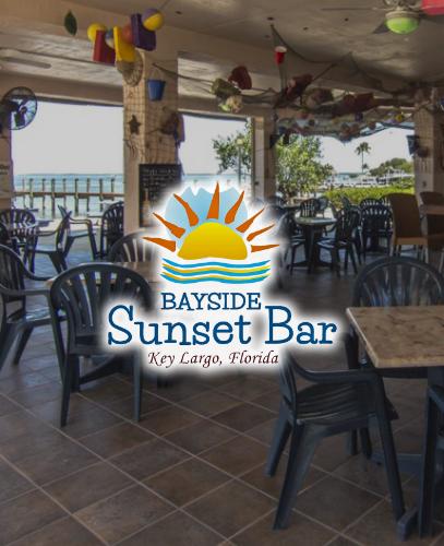 Sunset Bar Interior Image and Logo