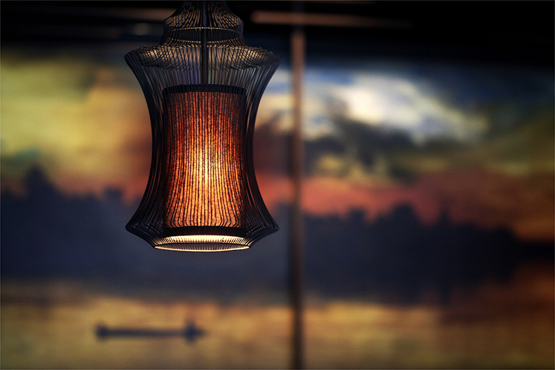 Lamp inspired by asian lanterns