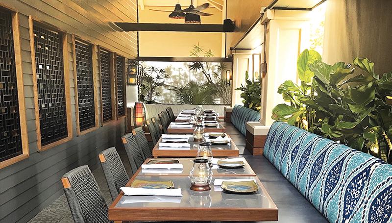 Patio room showing tableland seating arrangements