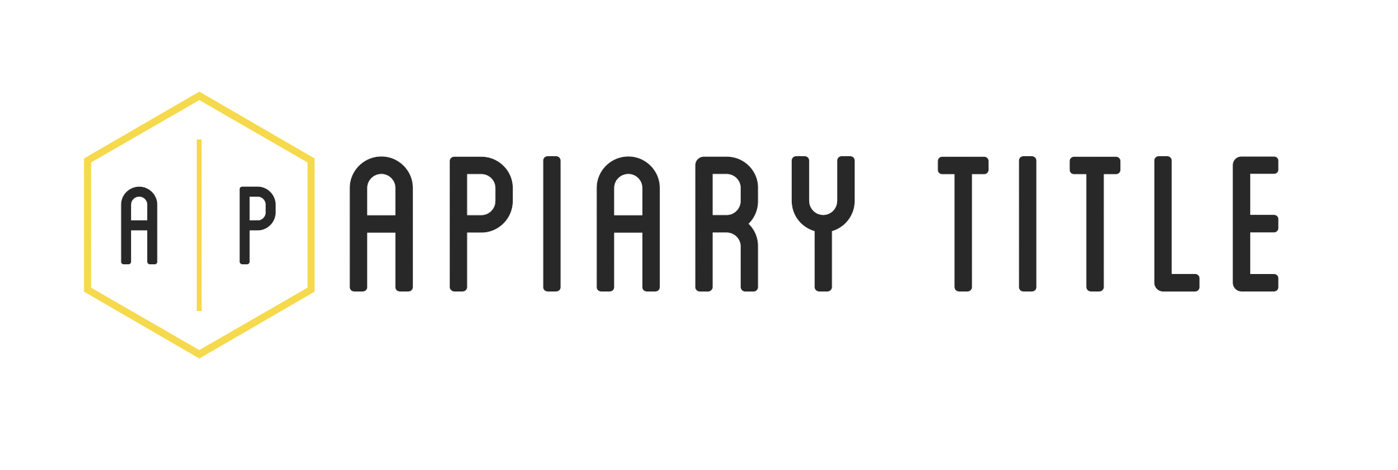 Apiary Title logo