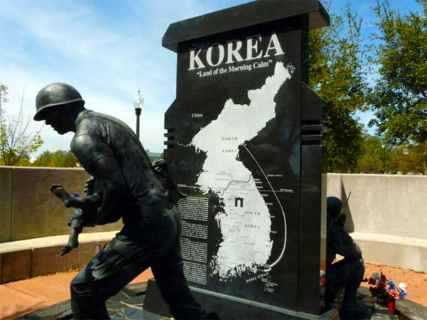 Korean War Monument view 2