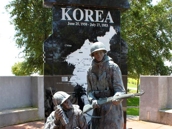 Korean War Monument view 3