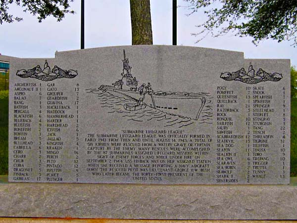 Memorial to Submarine Veterans Close-Up
