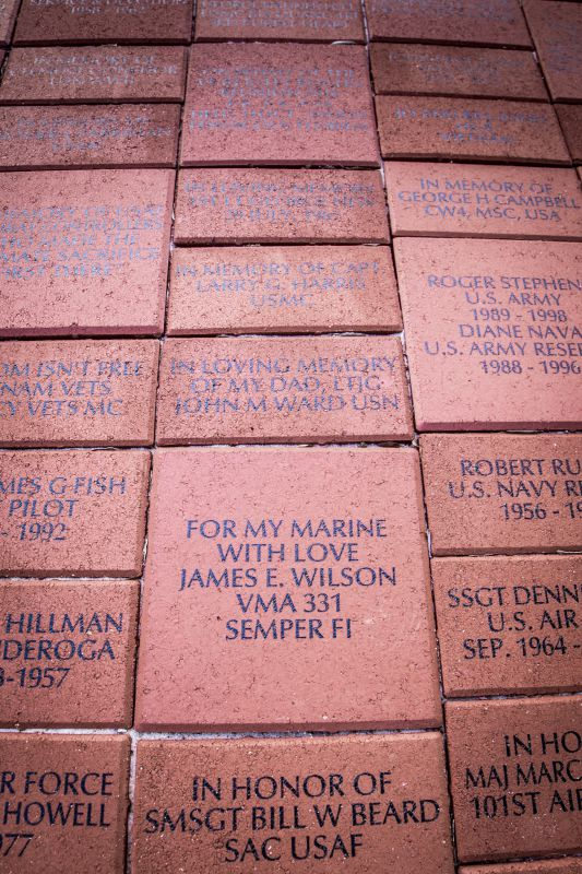 Walk of Honor Bricks & Inscriptions