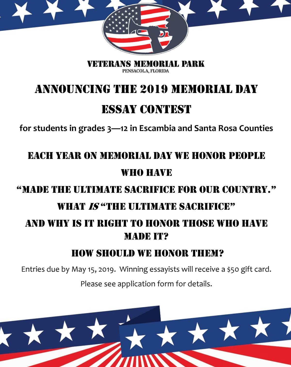 Photo of VMPF Announces Memorial Day Essay Contest