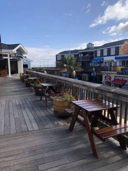 New outdoor seating