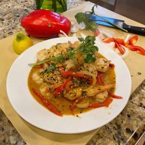 Ready to eat Red Chili Garlic Shrimp