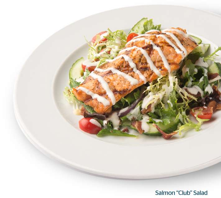Salmon Club Salad