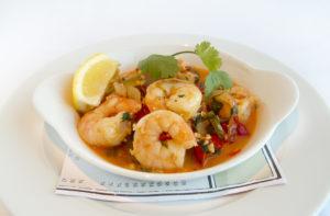 Serving of Red Chili Garlic Shrimp