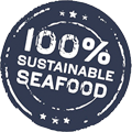 100% Sustainable Seafood logo