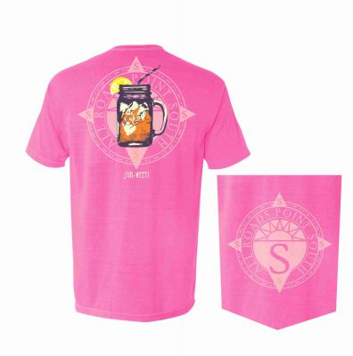 Pink t-shirt with Sweet Tea in a Jar Design