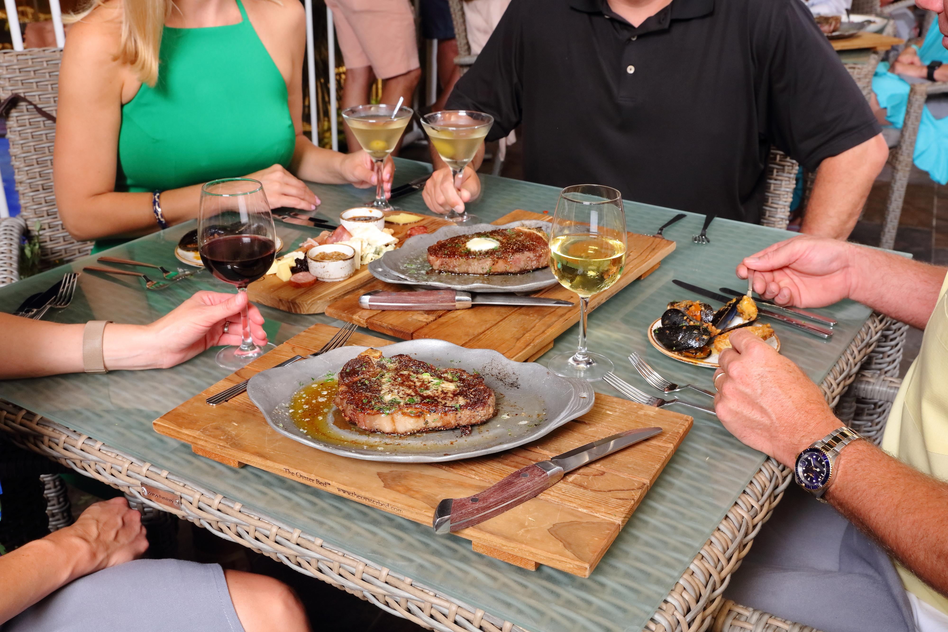 Diners Enjoying Dinner