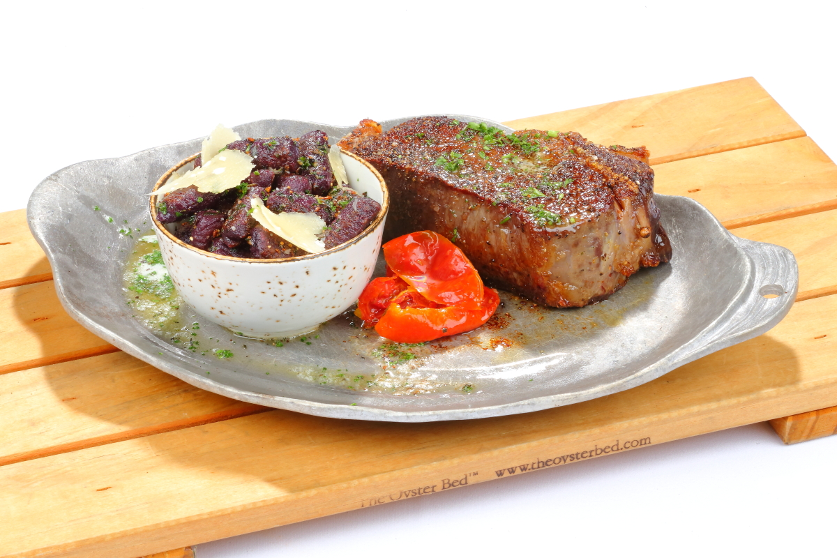 Plated Grilled Steak