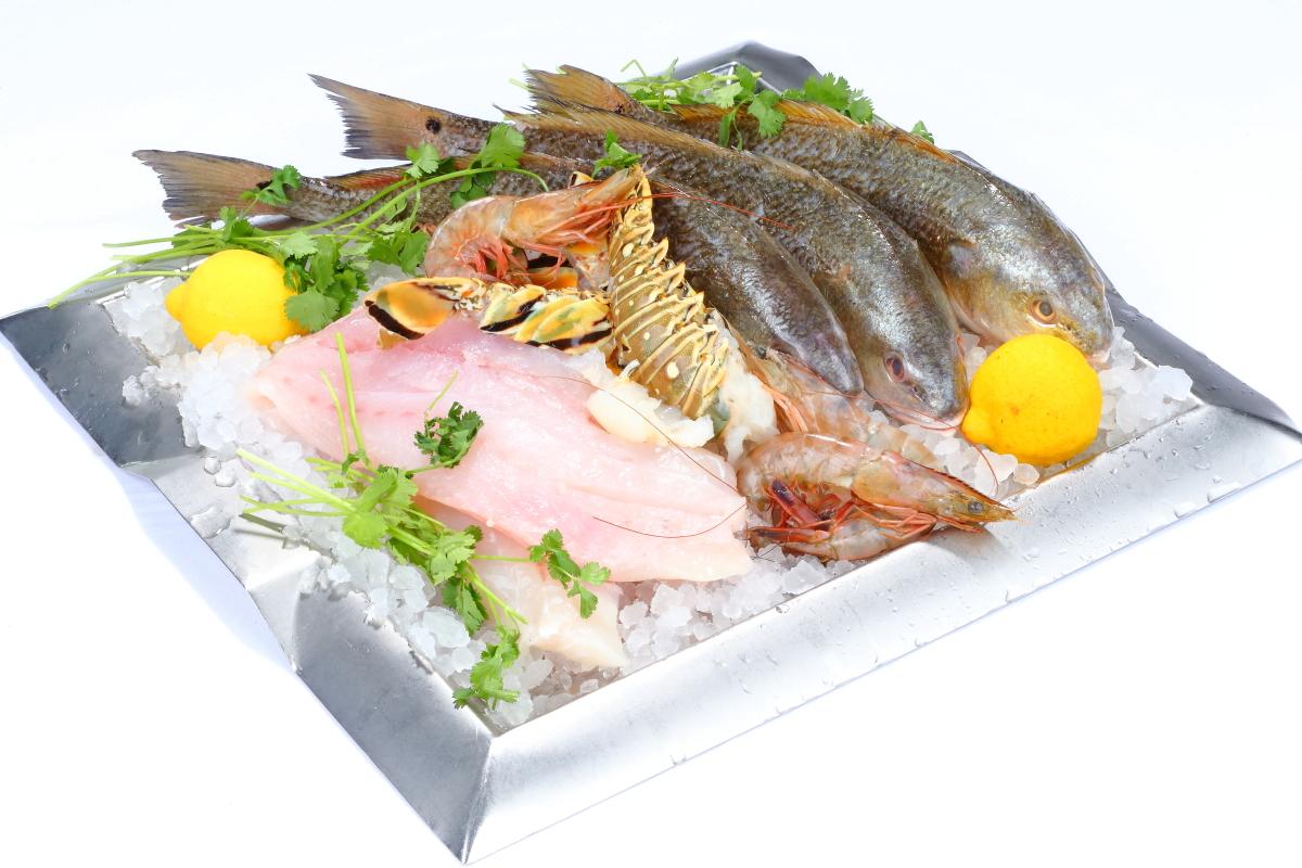 Fresh Fish on a Tray