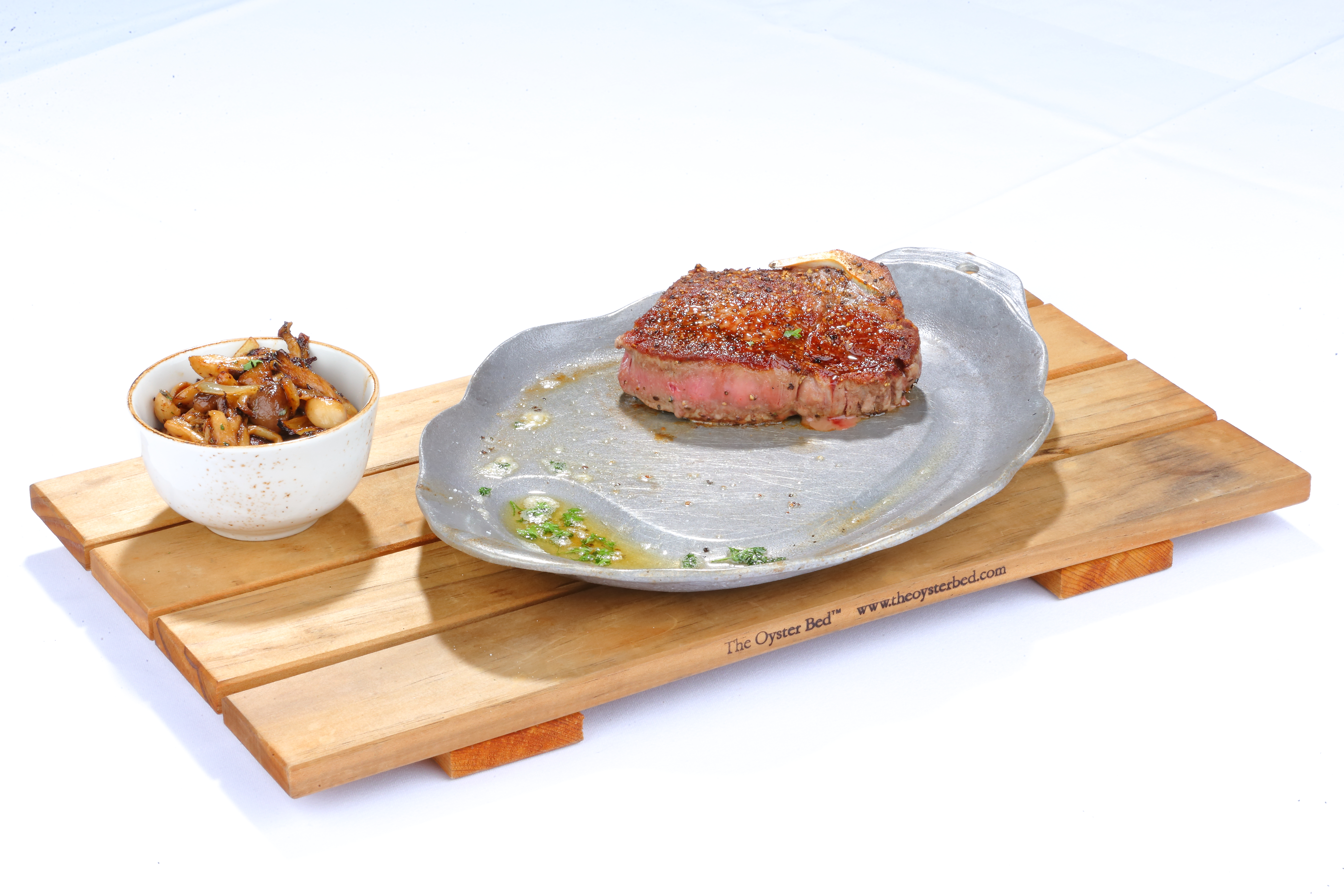 Plated Steak with Butter Sauce