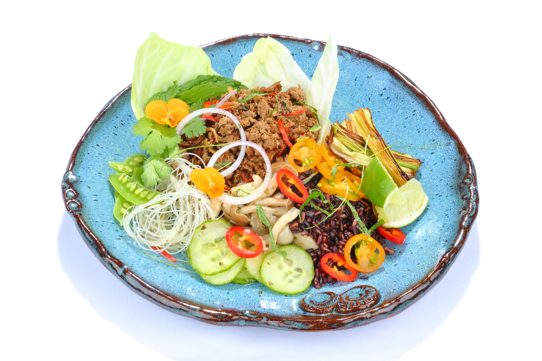 Plated Vegetarian Dish