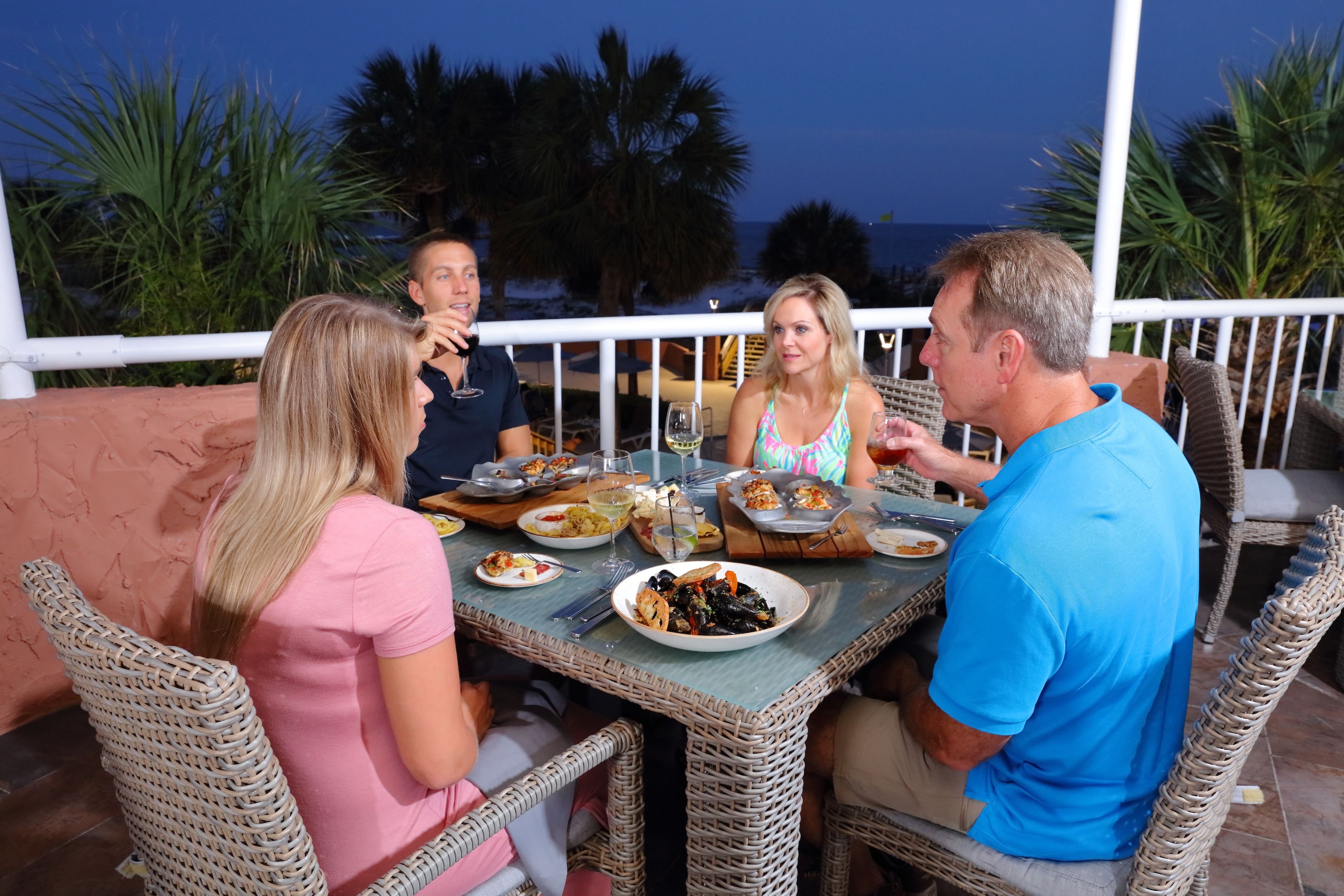 Diners Enjoying Outdoor Dining