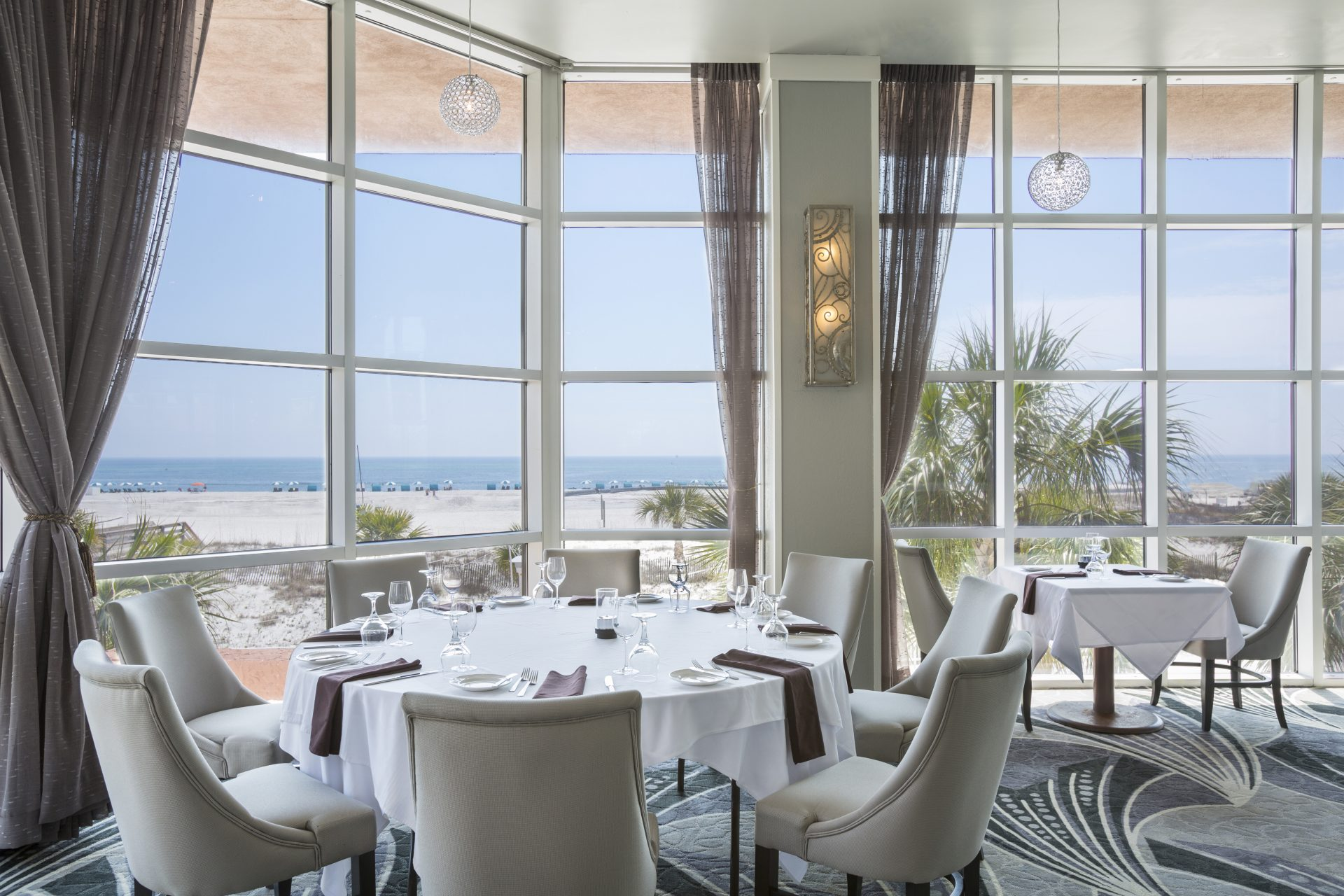 Voyagers Dining Room with Coastal Views