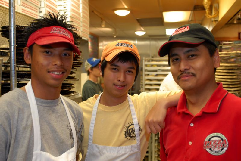 Pizza Shuttle crew prepared to make your order fresh image