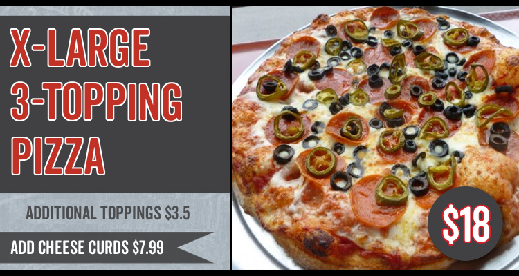 X-Large 3-Topping Pizza Special