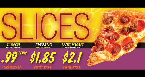 Dine-In Only Slices Special