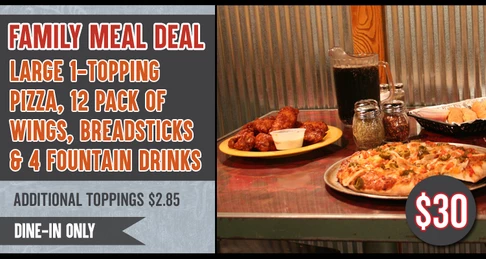 Dine-In Only Family Meal Deal Special