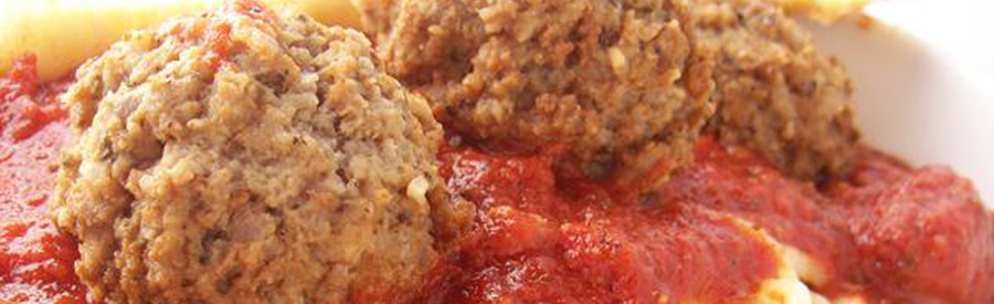 Close up of Ravioli Pasta Dinner